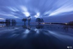 ''Blue Mood!'' (pascaleforest) Tags: ciel sky bleu blue mood passion nikon nature nuage cloud longuepose longueexposure eau water réflection campagne fleuve stlaurent québec canada stsulpice sunsire leverdusoleil rive