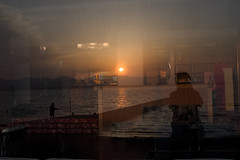 Sunset in Kanzanji(舘山寺の夕日) (daigo harada(原田 大吾)) Tags: silhouette kanzanji lake hamana 浜名湖 舘山寺 シルエット sunset 夕日 refrection