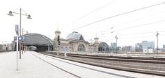 Dresden Hauptbahnhof (haberlea) Tags: germany dresdenhauptbahnhof dresden station trains onwhite white architecture