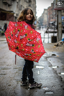 I have my special umbrella, it is anti-bombing too!