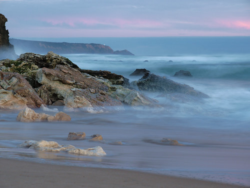 Wistful waves at dusk
