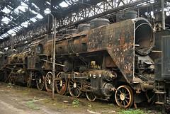 MAV 424 class 4-8-0 Locomotive @ Budapest. (Loco Steve) Tags: budapest istvantelek rusty abandoned steam railway hungary mav mav424class480locomotive