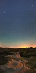Under the Stars (OJeffrey Photography) Tags: bistibadlands nm nightsky starscape bisti night stars panorama pano rocks newmexico ojeffrey jeffowens ojeffreyphotography nikon d800