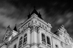 dark skies (James Jacques) Tags: sony a7 bw 50mm 18 long exposure clouds sky night gothic monochrome