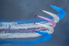 Contrast (Ian Garfield - thanks for 1.5 million views!) Tags: riat air airshow canon red arrows smoke fairford garfield ian iangarfieldphotographyfairfordriatroyalinternationalairt international photography royal tattoo united states us show display take off vapour vortices afterburner reheat dark grey sky clouds force america airplane aircraft jet iangarfieldphotographyfairfordriatroyalinternationalairtattooairshowcanon