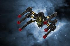 Black Fury (pasukaru76) Tags: canon100mm lego space starfighter blacktron bt1 coloritblacktron moc