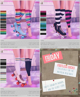 friday - Footless Socks for Rewind!