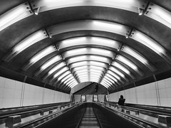 86th Street (street level) Tags: nyc 86thstreet subwaystatin manhattan blackandwhite newyorkcity escalator gothamist urban iphoneography