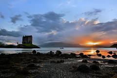 Castle Stalker sunset (andrewmckie) Tags: castlestalker castle chateau scotland scottish scottishcastles outdoor landscape scenery sunset cloudsstormssunsetssunrises