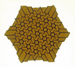 Hexagon and triangle twist tessellation (mganans) Tags: origami tessellation