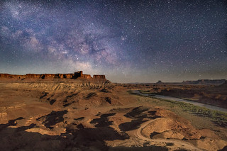 Canyonlands Milky Way Along the Green River, in Moonlight