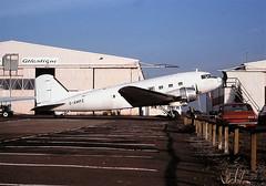 G-AMPZ Janes Aviation CVT 27-11-1988 (cvtperson) Tags: gampz dc3 janes aviation coventry cvt egbe