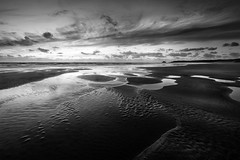 Tranquil View (Mick Blakey) Tags: shoreline tranquil sand sunset seashore curves deserted coast perransands sea tide white cornish contrast beach monochrome solitary coastline coastal dusk black seascape blackwhite cornwall clouds walk