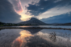 Sunrise Over Mount Errigal, County Donegal, Ireland (MelvinNicholsonPhotography) Tags: loughnacungupper mounterrigal ireland countydonegal water runrise colour clouds sky melvinnicholsonphotography