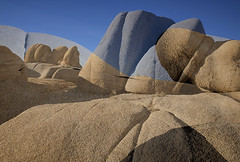 Two Parts (DPRPhoto) Tags: joshuatreenationalpark jumborocks rockformations doubleexposures desertlandscape