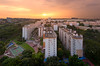 Bloom, Wilt (HakWee) Tags: singapore sunset hdb vertorama architecture angmokio