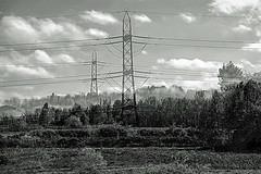 Pylons (Nifty_Shoes) Tags: pylon pylons electricity blackandwhite rushcliffecountrypark doubleexposure d600 nikon incamera notts sunday landscape