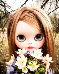💐 Flowers for mom ❤ Happy mother's day! 😍 #blythe #custom #customblythe  #doll #nukke