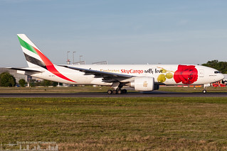 A6-EFL Emirates Boeing 777-F1H painted in