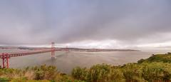 Bridge, river & Lisbon (german_long) Tags: bridge 25deabril lisboa lisbon portugal river tajo