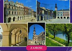 postcard - from chlebek, Poland (Jassy-50) Tags: postcard postcrossing zamosc poland multiview unescoworldheritagesite unescoworldheritage unesco worldheritagesite worldheritage whs damaged