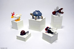 Small Animals (Takamichi Irie) Tags: lego animal small bug creature chicken turtle beetle snail fly