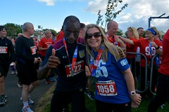 A Villa fan completes the race (James O'Hanlon) Tags: btr runfor96 run for 96 runforthe96 liverpool stanley park 5k race event lfc 2017 stars vip jft96 jft