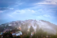 Misty Village (Vincent_Ting) Tags: 清境農場 南投縣 台灣 taiwan nanton farm clouds misty mountain architecture 雲海 迷霧 homestay 民宿