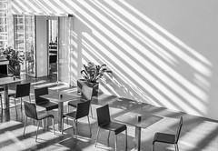 Light & shadows (Tobias Dander) Tags: tobiasdander bolzano cafe bistro light shadows museion bnw blackandwhite black white schwarz weiss alto adige italy monochrome
