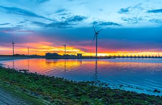 Sonnenuntergang an der Oosterschelde