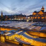 Balmoral Hotel and Waverly station, Edinburgh Scotland thumbnail