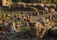 Roman heating system  in al-Mina archaeological site, South Governorate, Tyre, Lebanon (Eric Lafforgue) Tags: ancient archaeological archeology architecture byzantine civilization colorimage heater heating heritage historic historical history horizontal landmark lebanon liban liban445 middleeast nopeople outdoors past remains roman ruins sights sour southgovernorate tourist touristic tyr tyre unescoworldheritagesite lb libanon libano ливан レバノン لبنان