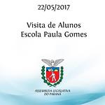 Visita de alunos da Escola Paula Gomes 22/05/2017