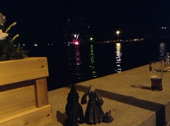 Godzilla and Gandalfs Watching The Fireworks (splinky9000) Tags: kingston ontario canada day 2014 7114 fort frontenac godzilla gojira kaiju legendary pictures neca action figure toys godzillas adventures gandalf grey wizard lord of the rings hobbit gandalfs toybiz figures lego minifigure