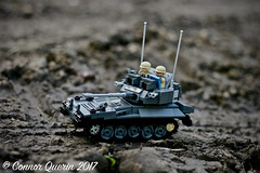 """Though I walk through the valley of the shadow of death..."" (Connor Querin) Tags: lego cvrt scimitar light tank afv 135 recce armoured fighting vehicle brickmania track links tracked mud muck outdoors dark bley qrh rarden rac"