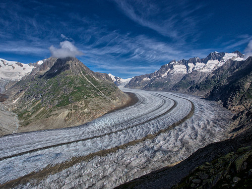 Extreme Environments: The Aletsch Glacier, Bernese Alps, Valais, Switzerland