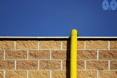The Pipe (occhio-x-occhio) Tags: 500px rough watermark sky architecture blue brown yellow morning outdoor cement iron oxo monterotondo new pipe brick pinterest g fb flickr