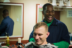 170422-N-AZ808-198 (U.S. Pacific Fleet) Tags: usstheodoreroosevelt cvn71 barbershop sailor nicholasburgains npase barber underway hsc6