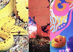 Lost Chapters #3 (The Grand Collage) Tags: snake duck tree patterns pollock drips paint lights water pink red yellow