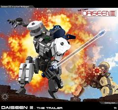 Dai Trailer 11 (messerneogeo) Tags: messerneogeo robot mech mecha daiseen iii lego trailer