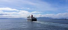 Arran ferry (Rourkeor) Tags: ardrossan ayrshire scotland unitedkingdom gb arran ferry calmac boat ship sea island reflections water waves sparkle blue clouds horizon sony sonyrx1r rx1r fullframe carlzeiss zeiss sonnar t 35mm sonyflickraward