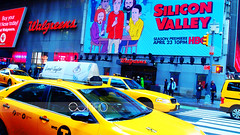 P1013864adweb (sabine_in_singapore) Tags: newyork nyc city street olympus travel taxi timessquare pen ep2 art filter