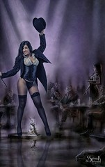 Cosplay pinup: Ailiroy's Zatanna Zatara , by SpirosK photo.: Luis Royo Composite (SpirosK photography) Tags: ailiroy ailiroycreations ailiroyartsandcrafts cosplay pinup pinupgirls spiroskphotography studio photoshoot costumeplay zatanna zatannazatara dc dccomics dcuniverse d750 nikon portrait luisroyo composite