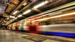 Whooosh (Joseph Pearson Images) Tags: westminster tube subway underground london hdr