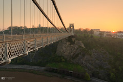 Early morning sunrise at the Clifton suspension bridge (technodean2000) Tags: the clifton suspension bridge spanning picturesque avon gorge is symbol city bristol for almost 150 years this grade i listed structure has attracted visitors from all over world its story began 1754 with dream wine merchant who left legacy build england uk nikon d5200 lightroom night landscape architecture outdoor skyline building infrastructure water dusk serene d610 colour color sky black background sunrise