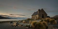 A Good Sheperd (Tirta Winata) Tags: lake tekapo new zealand church good sheperd south island sunset dusk
