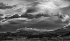 before Hell breaks loose... (Alvin Harp) Tags: shastacounty northerncalifornia january 2016 monochrome blackandwhite bw stormclouds cloudsstormssunsetssunrises ominous winterstorm sonyilce7rm2 fe24240mm bwlandscape alvinharp