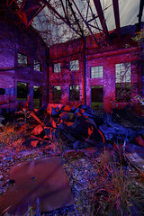 Abandoned Pump Station II (Notley Hawkins) Tags: missouri notley notleyhawkins 10thavenue httpwwwnotleyhawkinscom missouriphotography notleyhawkinsphotography lightpainting bluelight blue night nocturne 光绘 光繪 lichtmalerei pinturadeluz ライトペインティング प्रकाशपेंटिंग ציוראור اللوحةالضوء abandoned longexposure november ruralphotography windows red redlight rgb building architecture window windowsill lacledecountymissouri saintanniemissouri saintannie ozarks pumpstation may 2017 gulfpumpstation