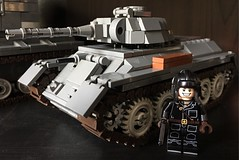 LEGO Russian WWII T-34 tank commander (dmikeyb) Tags: lego wwii ww2 russian soviet tank tanker officer commander soldier tt pistol gun helmet brickmania brick warriors