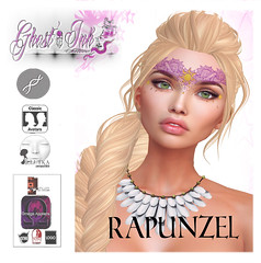 Exclusive :: Rapunzel Face Tattoo :: (Ghost ( Ghost'Ink Tattoo )) Tags: rapuinzel theenchantment ghostink facetattoo secondlife raiponce disney fairies pink blog sl rockberryfairlady